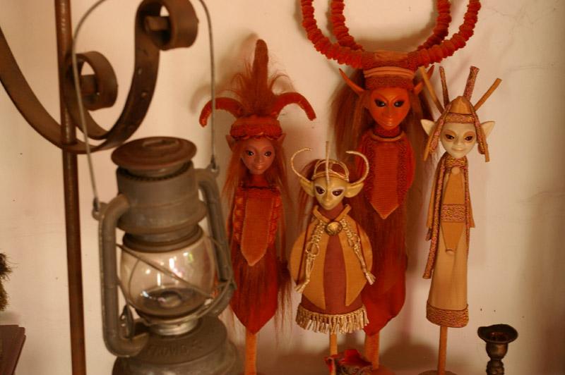 still life fantasy creations dolls elves orange fairy tale