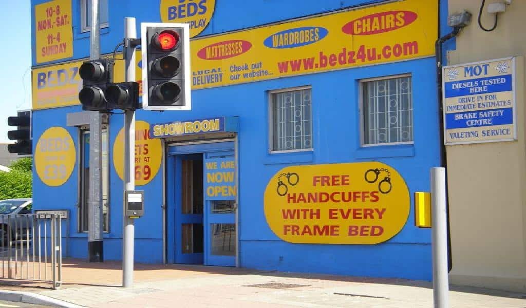 Free Handcuffs with every frame bed