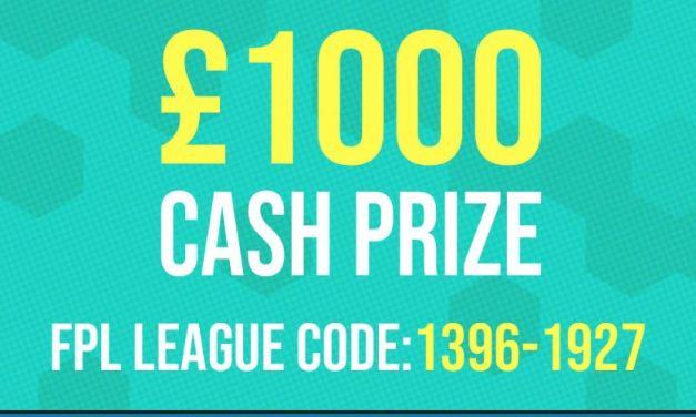 FPL £1000 Prize League