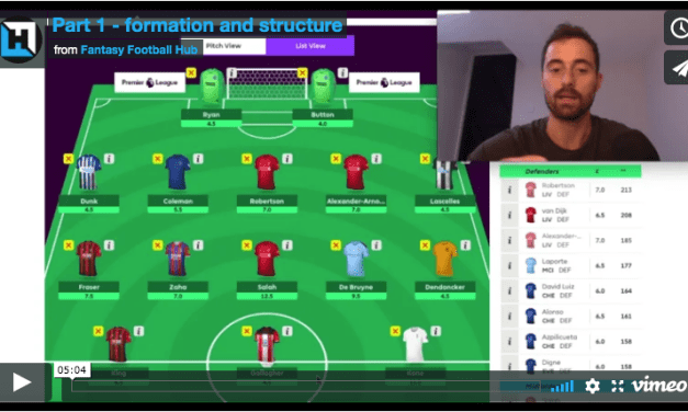 How To Win At FPL Video Series – Part 1 (Formation & Team Structure)