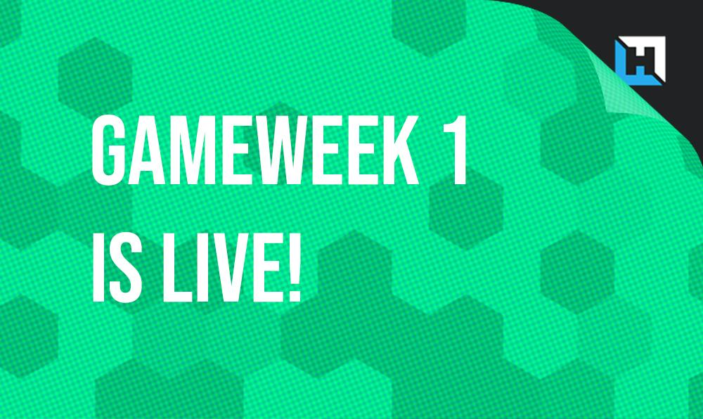Gameweek 1 is live