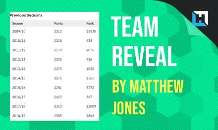 Matthew Jones' GW5 Team Reveal