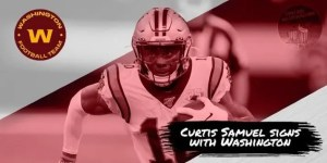 Curtis Samuel Signs in Washingto