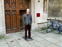 Professor Adam Roberts outside Pembroke College, Oxford
