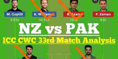 NZ vs PAK Dream11 Team, PAK vs NZ Dream 11 team prediction