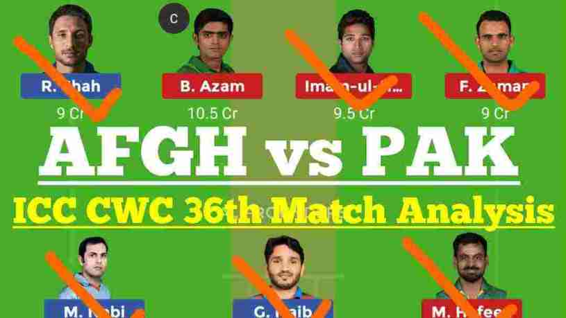 PAK vs AFG 36th Match Dream11 Prediction
