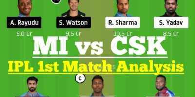 MI vs CSK IPL 1st Match Dream11 Team Analysis, MI vs CSK Dream11 Team Prediction, MI vs CSK Dream 11 Today Match