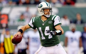 Ryan Fitzpatrick threw 31 TD's for the Jets in 2015. Mandatory Credit: Brad Penner-USA TODAY Sports