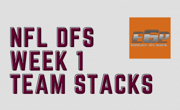 2020 NFL DFS Week 1 Team Stacks