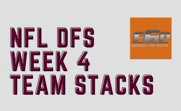 2020 NFL DFS Week 4 Team Stacks