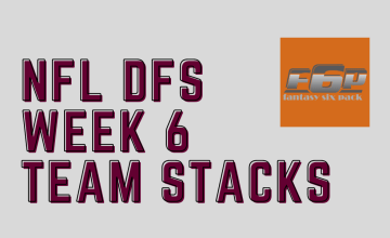 2020 NFL DFS Week 6 Team Stacks