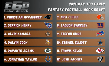 2021 Fantasy Football Way Too Early Mock Draft
