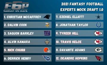 2021 Fantasy Football Experts Mock Draft May