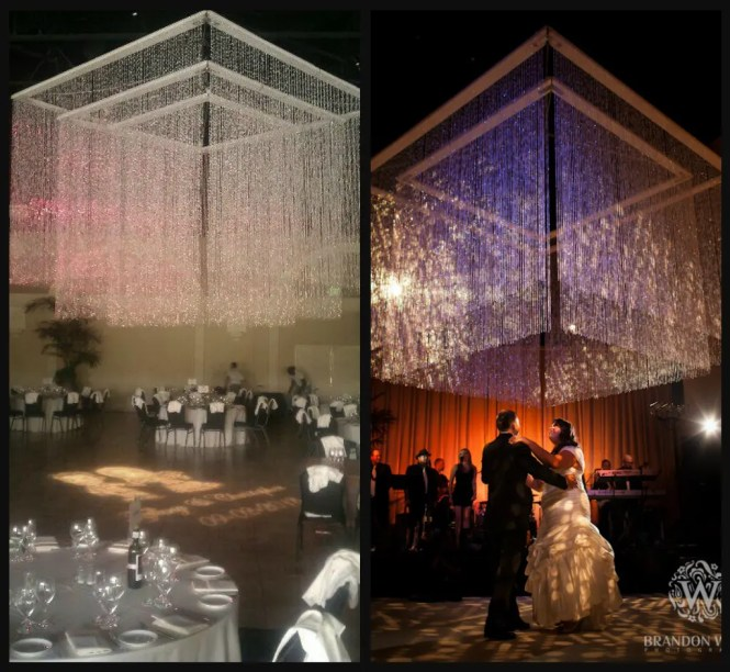 We Also Designed And Built A 9 X9 6 X6 Beaded Chandelier That Can Be Nested Inside The 12 X12 To Really Wow Your Guests