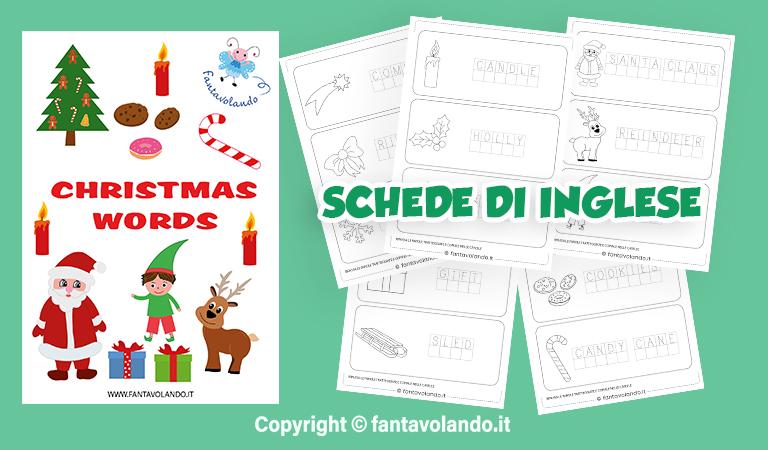 Tutte le nostre poesie per bambini sono adatte ai bambini della scuola primaria, illustrate con un bel disegno da colorare e tutte da stampare gratuitamente. Schede Didattiche Di Inglese Christmas Words Fantavolando