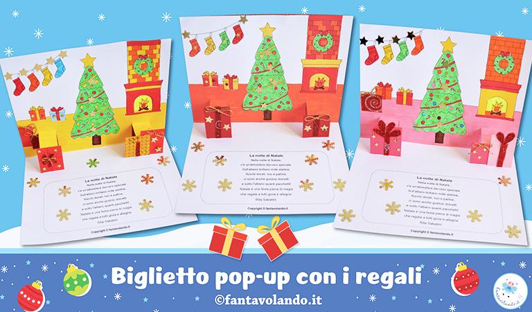 Lavoretti creativi e manuali per realizzare addobbi, calendari dell'avvento e molto altro. Lavoretti Di Natale Biglietto Pop Up Con I Regali Fantavolando