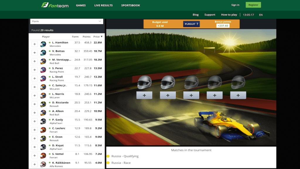 Formula Fantasy League - Russia