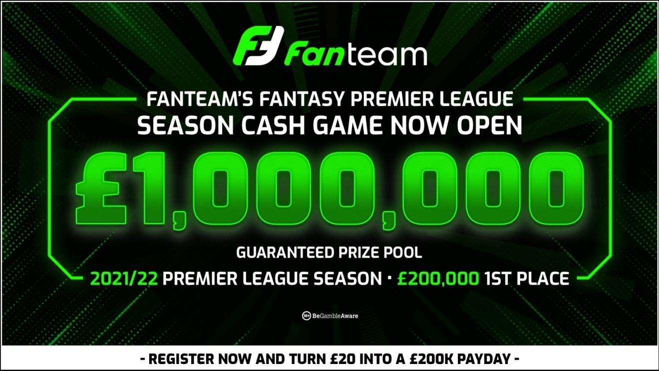 fanteam million - 2021 fantasy premier league cash game season long