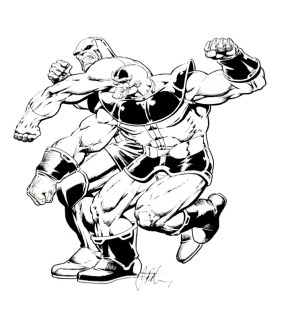 Darkseid vs Thanos by Jim Starlin