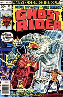 Ghost Rider 23 cover by Jack Kirby