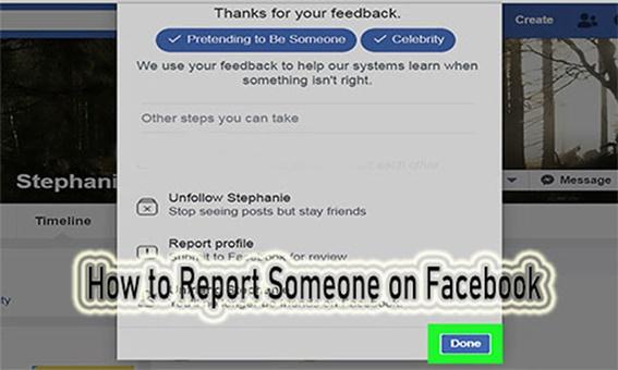 Report Facebook Friend
