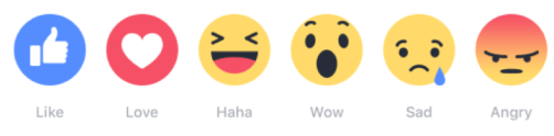 Reactions on Facebook