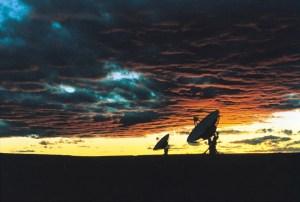 Satellite scanning the sky