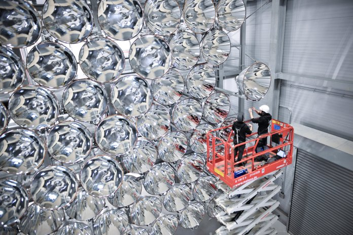 Artificial Sun at the DLR facility in Jülich