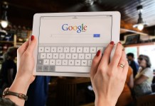 Internet search on tablet