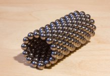 coil of small magnets