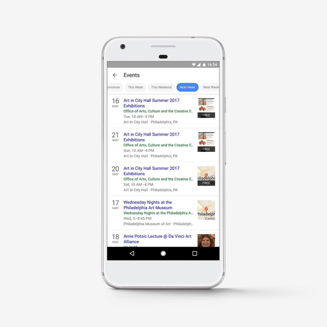 timefilter applied to google search for events