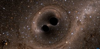 Photo of black holes collide