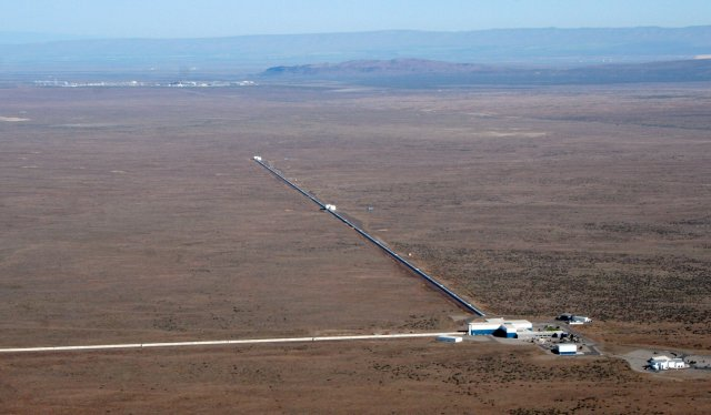 A view of the LIGO detector in Hanford, Washington