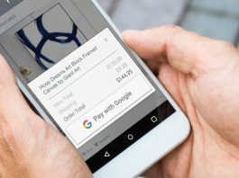 Pay With Google demonstrated on phone
