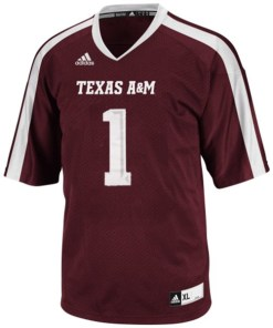 Adidas NCAA Texas A&M Aggies Tx A&M #1 Football Premier Team Color Jersey Front