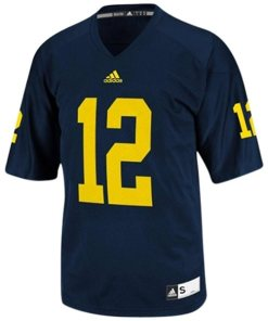 Adidas NCAA Michigan Wolverines #12 Football Premier Team Color Jersey Front
