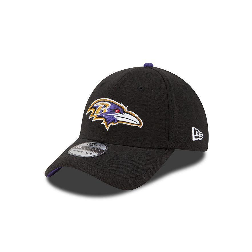 6295f756 Adult Baltimore Ravens New Era NFL Black Sideline 39THIRTY Flex Hat - L/XL  | Fanwears