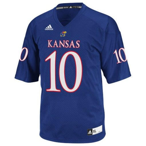 NCAA Kansas Jayhawks 10 Football Jersey