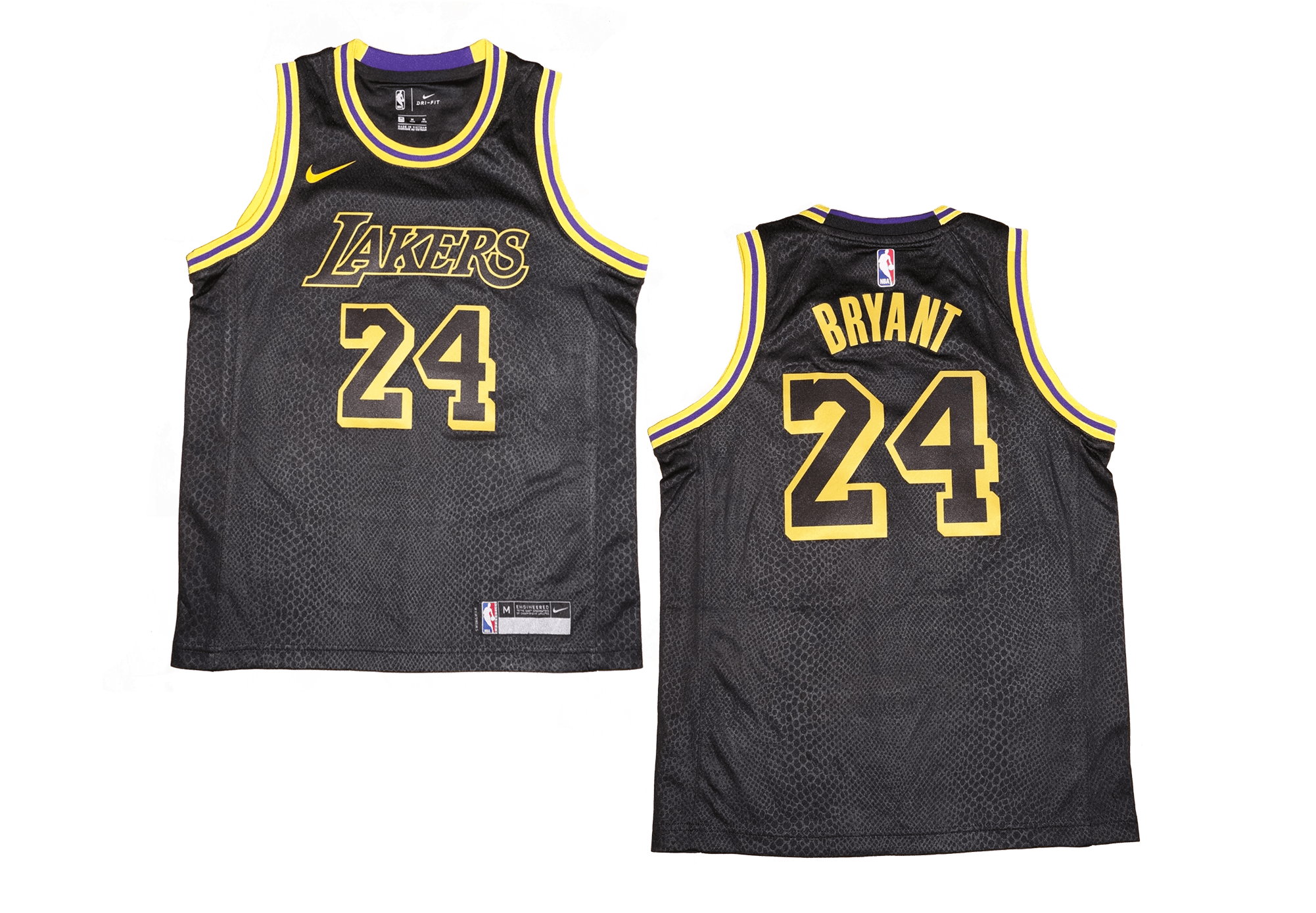 Youth Nike NBA Los Angeles Lakers  24 Kobe Bryant Black Swingman ... aacf8493d