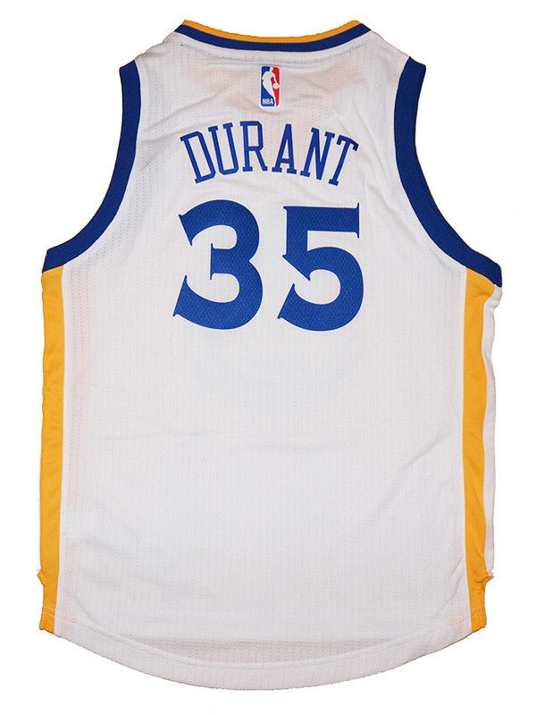 4d3d01ef2de Youth Kevin Durant  35 Golden State Warriors NBA Adidas White ...