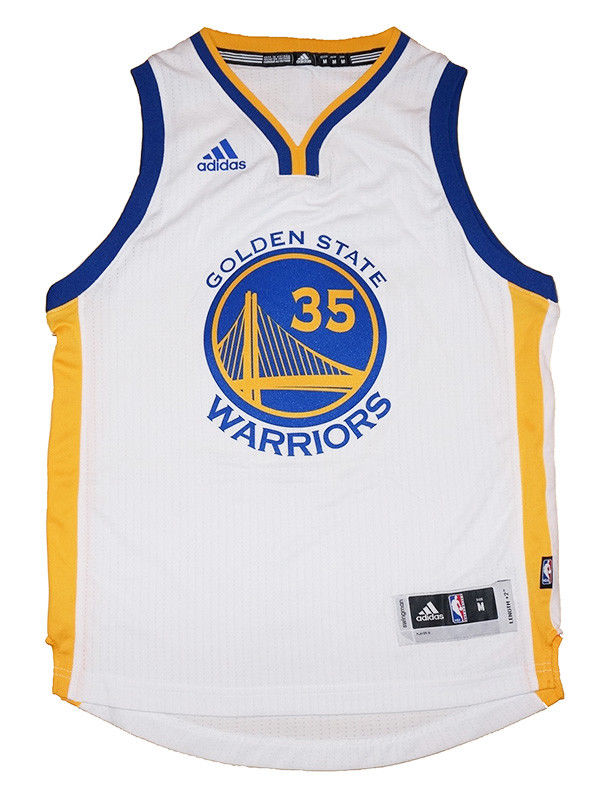 Youth Kevin Durant  35 Golden State Warriors NBA Adidas White ... 0bbdf4dad