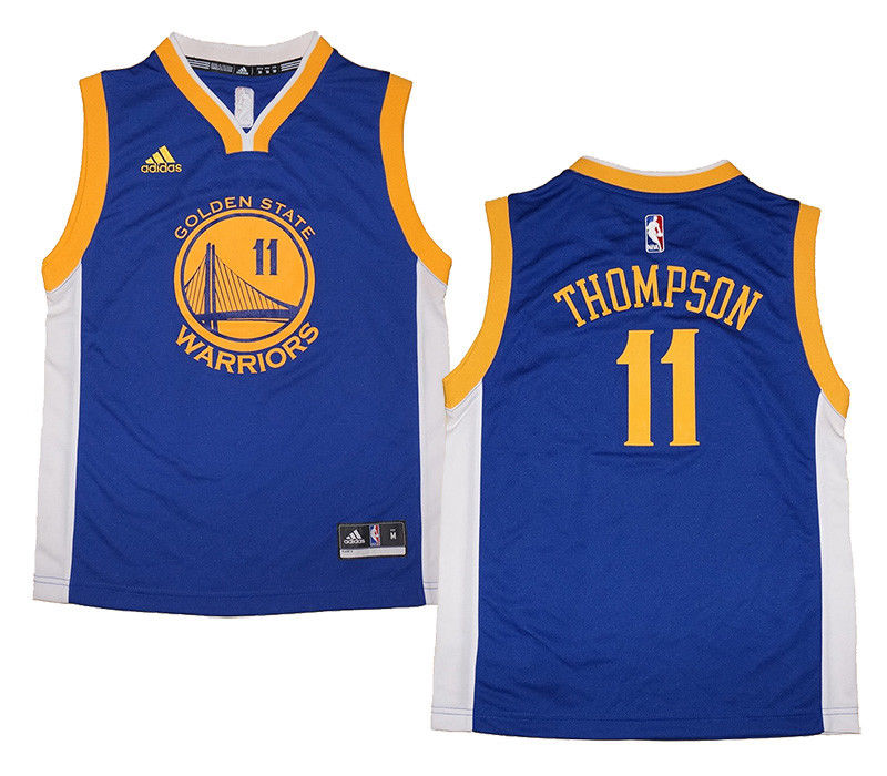 free shipping 4fc47 8b649 Youth Klay Thompson #11 Golden State Warriors NBA Adidas Royal Replica  Jersey | Fanwears