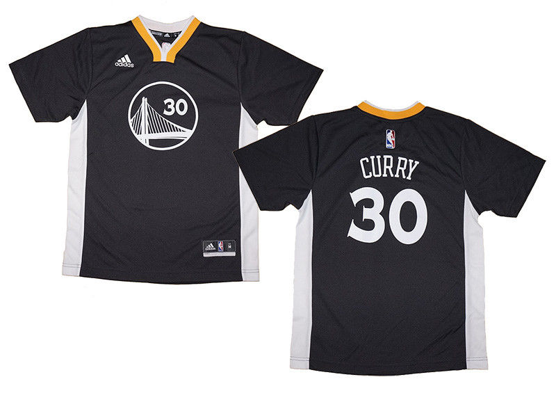 super popular 0e2af 9dc6d Youth Stephen Curry #30 Golden State Warriors NBA Adidas Short Sleeve  Replica Jersey | Fanwears