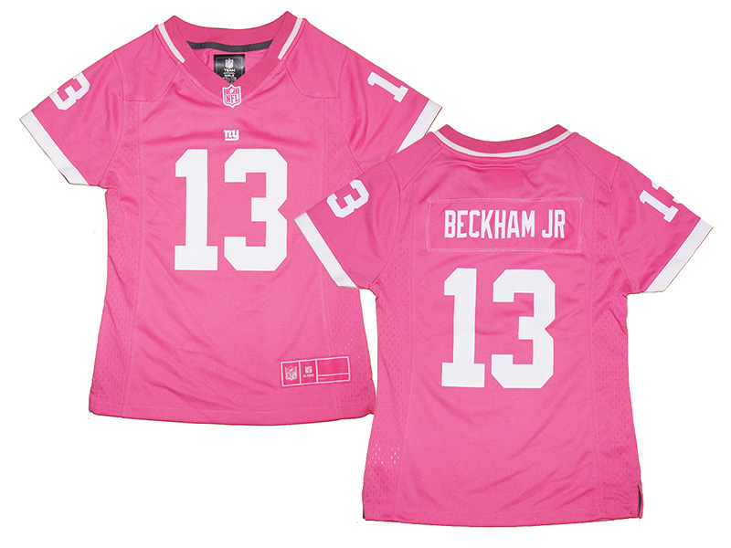 huge selection of 047e4 c47d0 Girls Youth New York Giants #13 Odell Beckham Jr. Pink Bubble Gum Jersey |  Fanwears