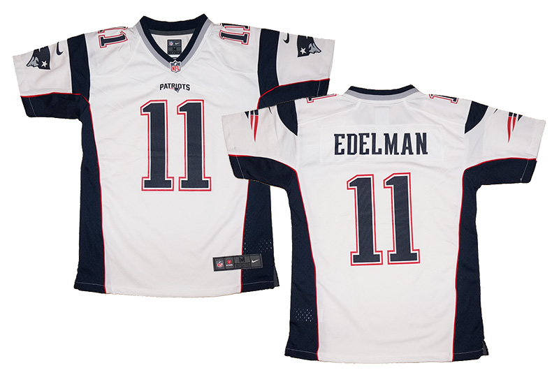 wholesale dealer 72f94 624d8 Youth Nike Julian Edelman #11 New England Patriots NFL White Game Jersey |  Fanwears