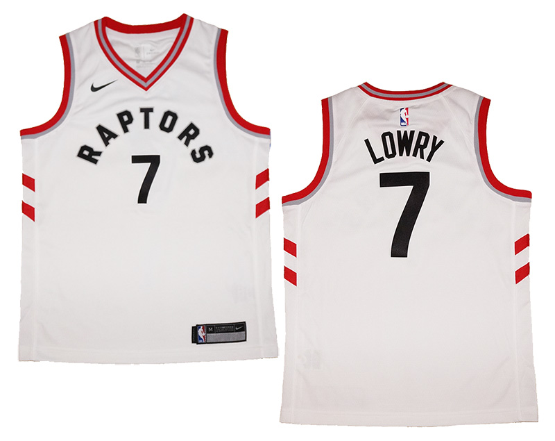 the best attitude 475e9 4fb84 Youth Nike Kyle Lowry #7 Toronto Raptors White Swingman Jersey Association  Edition | Fanwears