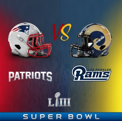 New England Patriots Super Bowl Jersey VS Los Angeles Rams Super Bowl Jersey