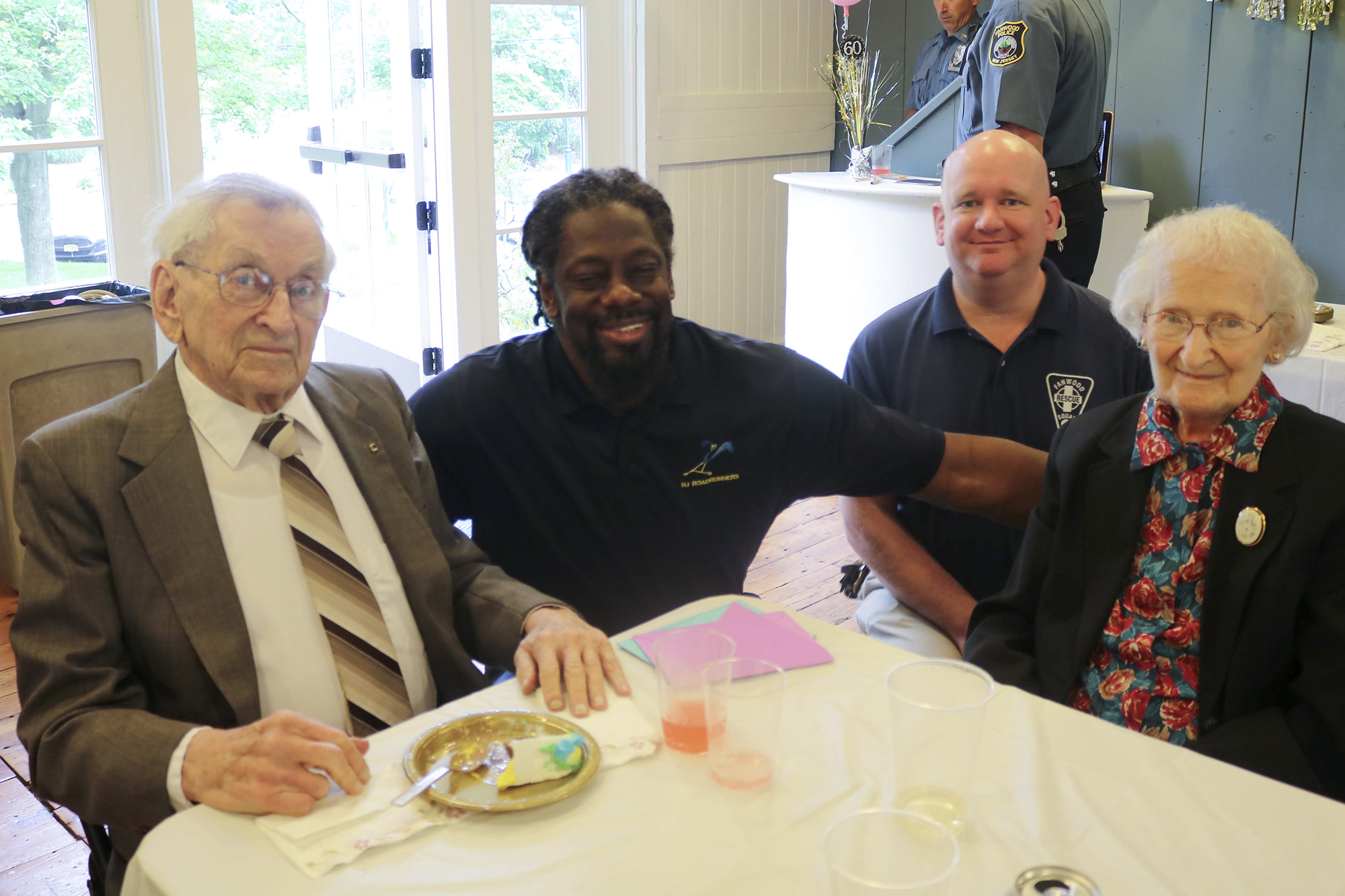 Councilman Anthony Carter and Ed Winsor with Bob and Grace