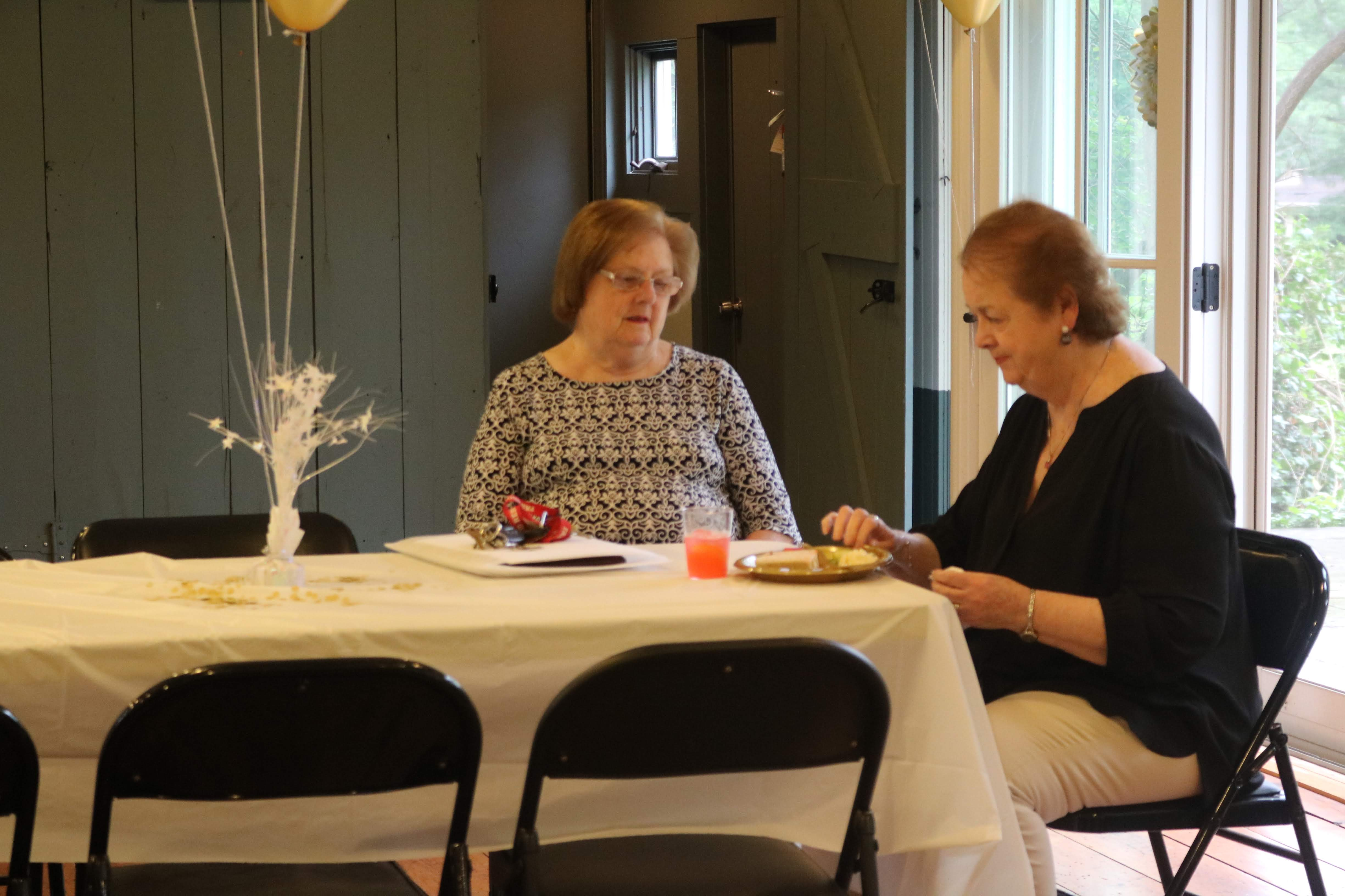 Councilwoman Kathy Mitchell and Eleanor McGovern