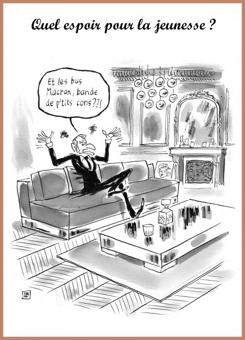 webzine,bd,zébra,gratuit,fanzine,bande-dessinée,caricature,emmanuel macron,bus,jeunesse,espoir,dessin,presse,satirique,editorial cartoon,lb